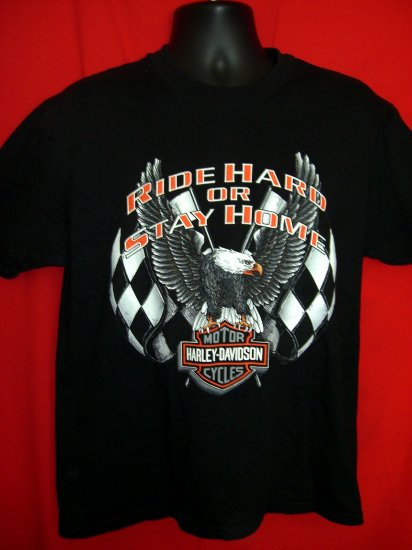 Harley Davidson Dealer T-Shirt Vintage 1997 Size Medium Rock Falls, Illinois  Ride Hard
