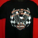Harley Davidson Dealer T-Shirt Vintage 1997 Size Medium Rock Falls, Illinois  Ride Hard