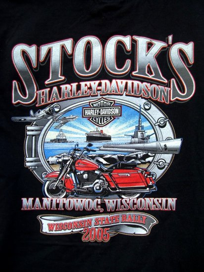 SOLD! HARLEY DAVIDSON Medium T SHIRT WISCONSIN State Rally 2005 Dealer-Stock's