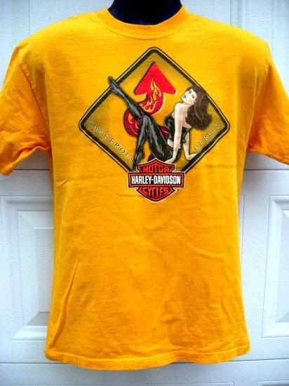 SOLD! Ladies HARLEY DAVIDSON Size Medium T-SHIRT DEALER MYRTLE BEACH South Carolina SC Woman's