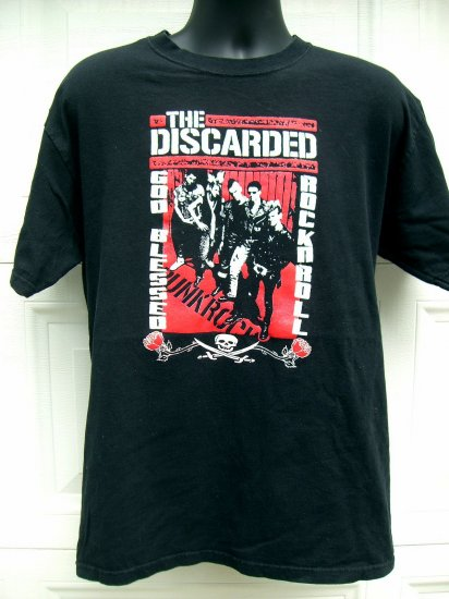 SOLD! RARE PUNK ROCK BAND Med/Large BLACK T SHIRT  the UK..The DISCARDED