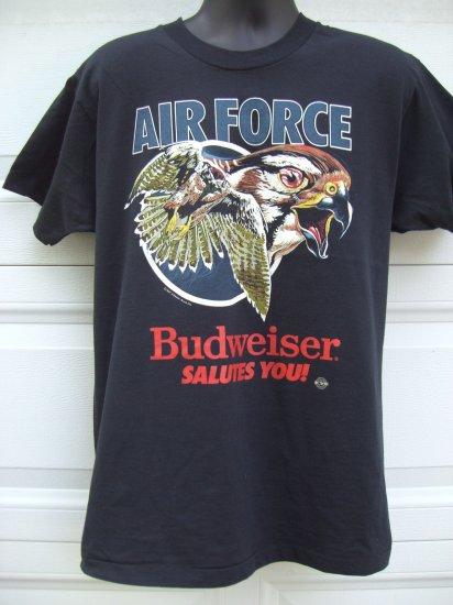 SOLD! Vintage 1987 USAF AIR FORCE & BUDWEISER Promo Large T-Shirt  Eagle in Flight