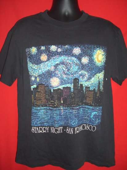 SOLD! RARE STARRY NIGHT SAN FRANCISCO VINTAGE Medium T-SHIRT