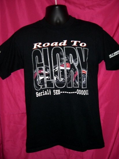 "Excelsior Henderson Motorcycle Company Medium T-Shirt ""ROAD TO GLORY"""
