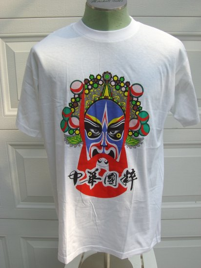 ON SALE! CHINESE CHINA OPERA THEATER ARTS MASK NEW Large White T SHIRT