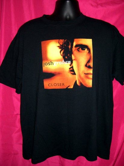 "Josh Groban Concert Tour T-Shirt Size Large 2005 ""Closer"""