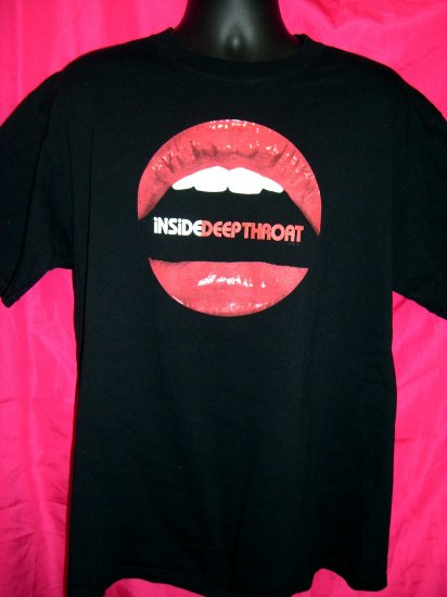 "Rare PROMO  2005 ""INSIDE DEEP THROAT"" Large / XL Black T-Shirt FREE SHIPPING!"