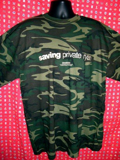 "Rare Promotional XXL / 2XLT-Shirt "" Saving Private Ryan"" Camo ARMY WWII World War II Movie"