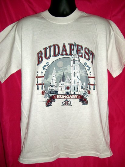 SOLD! Budapest Hungary White Medium or Large T-Shirt Tourist