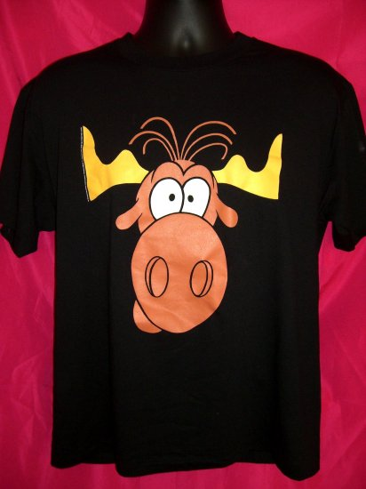 SOLD!  Rare Promotional 1993 Taco Bell Bullwinkle Moose Medium / Large T-Shirt Near MINT!