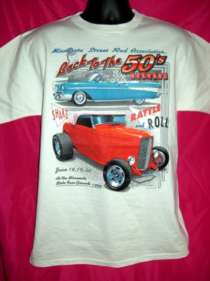 MSRA Street Rod Assoc Medium T-Shirt Back to the 50's Street ~ Hot Rod Car Cars Cool!