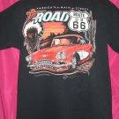 Route 66 Corvette Car Large T-Shirt
