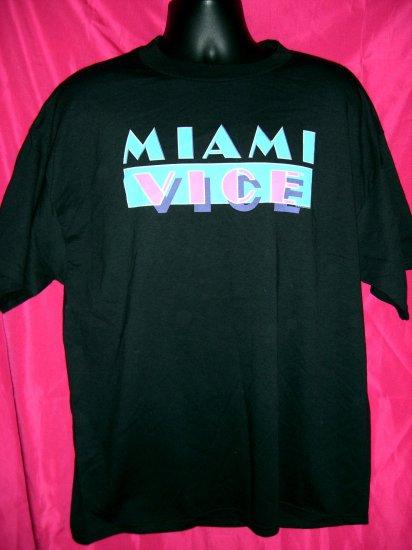 SOLD!  TV Show MIAMI VICE Cool Retro XL Black T-Shirt