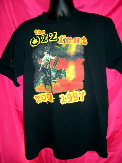 SOLD! The OZZFEST Tour 1997 XL T-Shirt Black Sabbath ~ Ozzy Osborne ~ Marilyn Manson