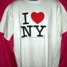 Classic I LOVE NY XL or XXL White T-Shirt (I HEART NEW YORK) 1996