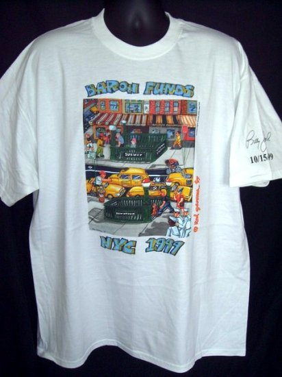 Rare Billy Joel Size XL T-Shirt Private Concert 10/15/99 Baron Funds  NYC 1999