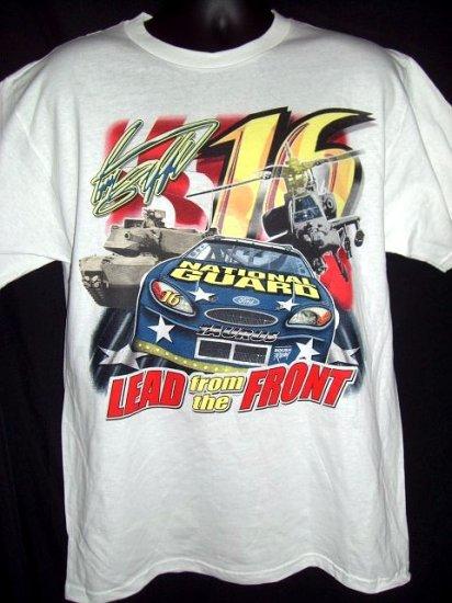 Greg Biffle #16 National Guard NASCAR White Medium / Large T-Shirt