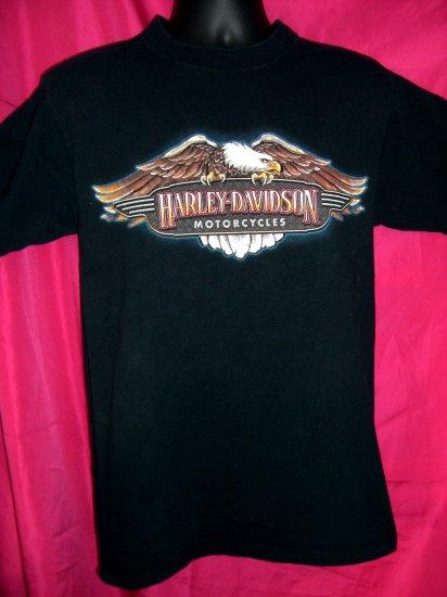 SOLD! Harley Davidson Medium Black T-Shirt Twin Cities Minnesota MN Minneapolis St Paul