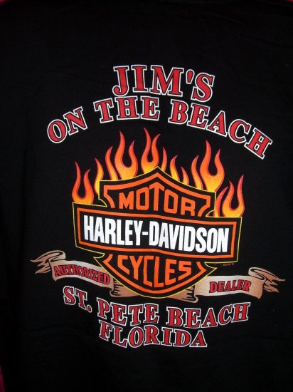 Harley Davidson Large or XL T-Shirt 2004 St Pete Beach Florida Dealer