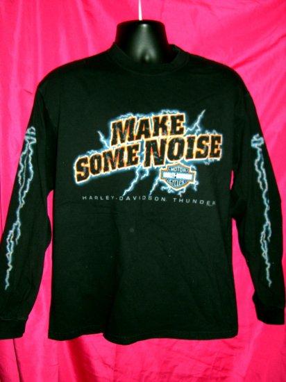 Harley Davidson Thunder Long Sleeve Large T-Shirt ~ Make Some Noise ~ 2002 Grand Canyon Arizona