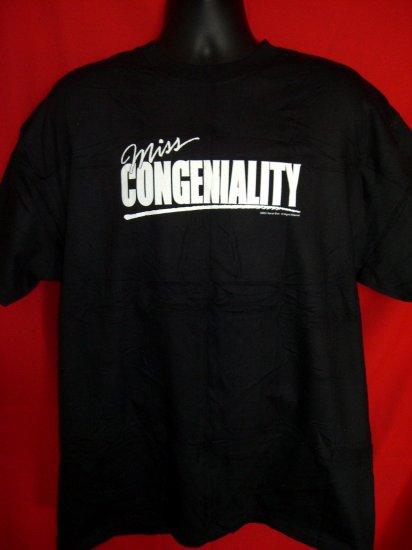 Sandra Bullock Movie 2001 MISS CONGENIALITY Large Promotional Black T-Shirt