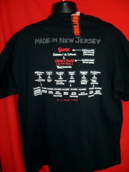 SOLD! Rare NWT 2002 HBO The Sopranos ~ XL Black T-Shirt NEW with Tags... Tony Soprano Family Tree