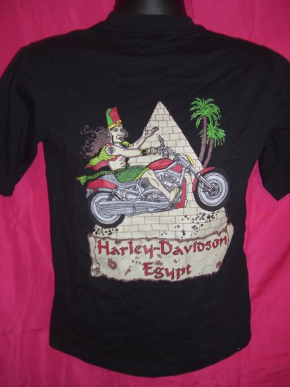 SOLD!  Harley Davidson VERY Small Black T-Shirt Cairo Egypt