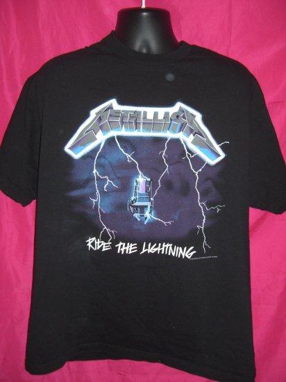 SOLD! Metallica XL T-Shirt Vintage 1994 Ride The Lightning EXCELLENT!
