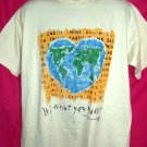 Vintage 1994 Earth It's What You Make It ~ Earth Day XL T-Shirt