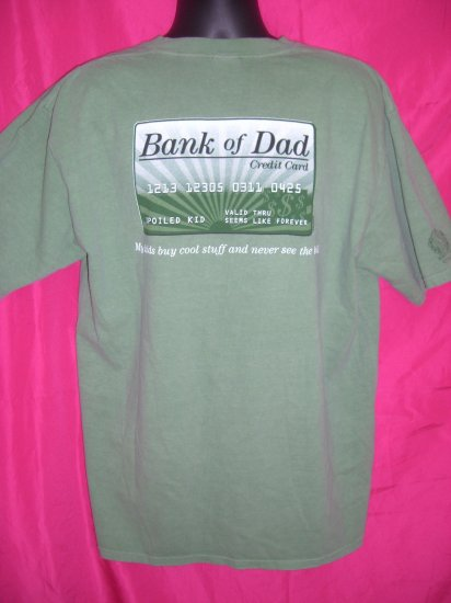"SOLD!  Funny ~ "" Bank of Dad "" XL T-Shirt  Father Kids Money"