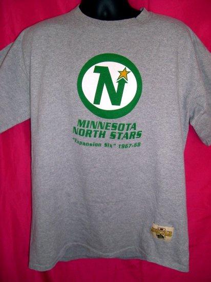 HOLD! MN ~ Minnesota North Stars Large / XL Heritage T-Shirt NHL Old School Hockey