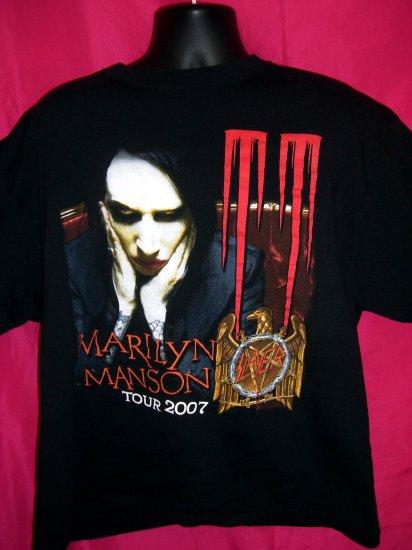 Sold! Marilyn Manson Concert Tour 2007 Black XL T-Shirt Goth