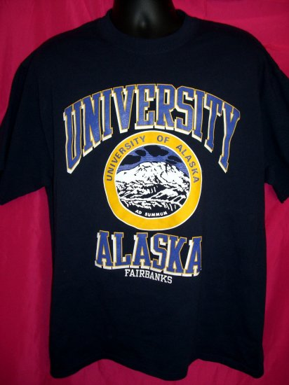 SOLD! University of ALASKA  Fairbanks XL Extra Large T-Shirt