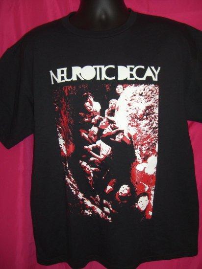 Rare Large / XL T-Shirt NEUROTIC DECAY Goth Metal Band