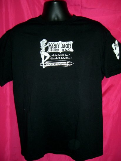 SOLD! Funny Surfing Medium or Large T-Shirt ~ Tacky Jack's SURF WAX