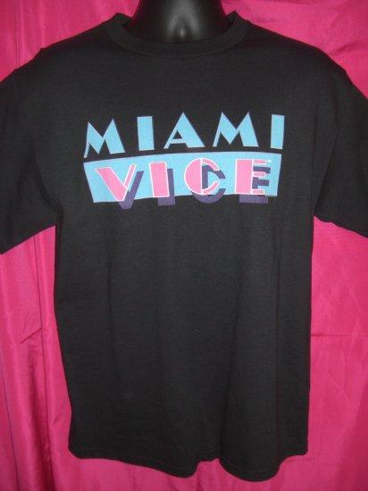 SOLD! TV Show  Movie ~ MIAMI VICE Cool Retro Medium Black T-Shirt NEW!  NWT