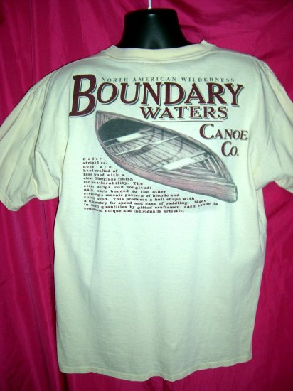 SOLD!  Ely Minnesota MN ~  BWCA Boundary Waters Area ~ Basswood Canoe XL T-Shirt