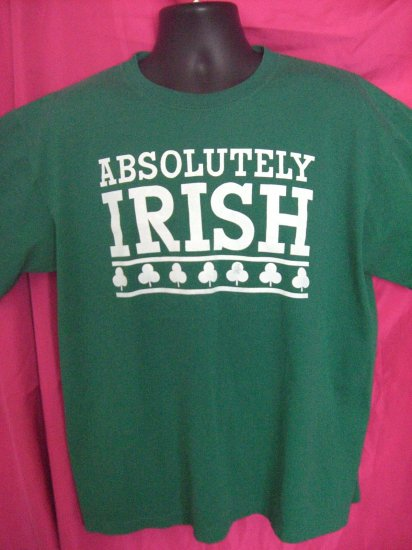 Rare XL T-Shirt ABSOLUTELY IRISH from Hobbit House in Malate Philippines