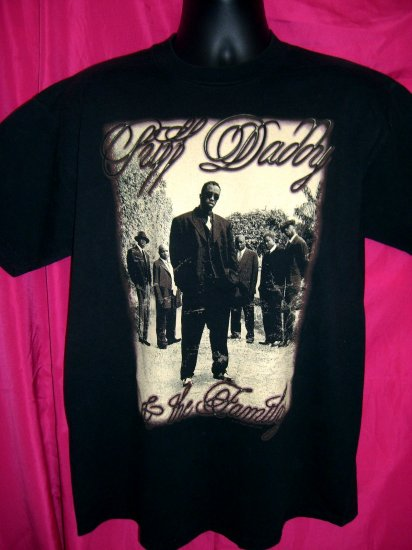 HOLD Sean Combs Vintage Old School P Ditty  World Tour Large T-Shirt  1997