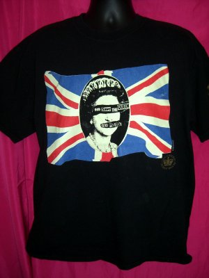 SEX PISTOLS 25th Anniversary Large or XL  Black T-Shirt 2002  ~ Save the Queen