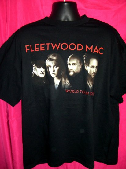 SOLD!  Fleetwood Mac ~ What's The World Coming To 2003 Tour XL XXL T-Shirt