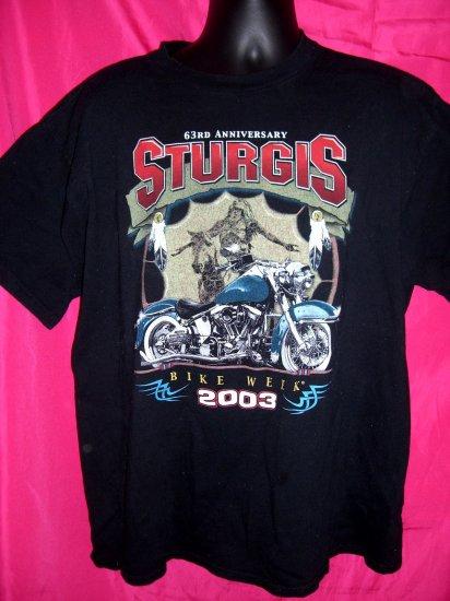 SOLD! 2003 Sturgis South Dakota SD BIKE WEEK XL T-Shirt