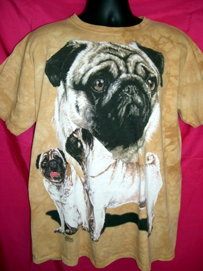SOLD! Rare Hard to find Pug Large or XL T-Shirt from 2000 ~ ART by Barbara Keith