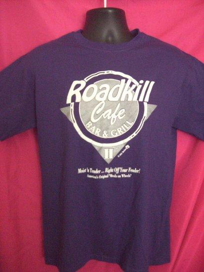 SOLD!  Funny 1993 ~ Road Kill Cafe MEDIUM Purple T-Shirt ~ Hunter