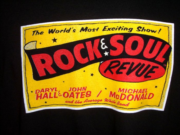 Rock and Soul Revue Rare Local Crew XL XXL T-Shirt ~ Daryl Hall John Oates Michael McDonald