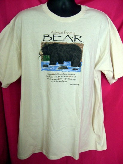 Funny NWT ~ NEW ~ Advice From A Bear XL T-Shirt