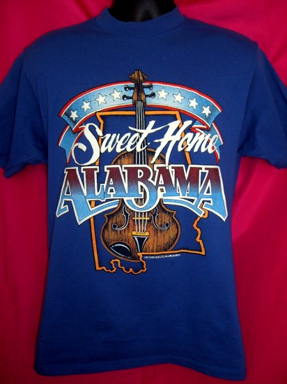 SOLD! Small or Medium T-Shirt SWEET HOME ALABAMA 1980's ~ Old School 50% Poly Cotton