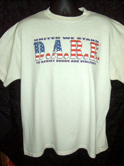 D.A.R.E. To Resist Drugs and Violence XL T-Shirt ALGONA IOWA IA
