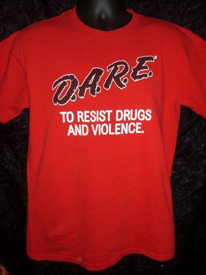 SOLD! Rare Red DARE D.A.R.E. Size Medium T-Shirt