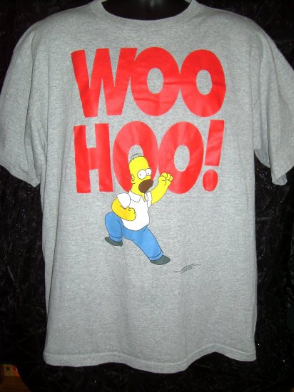 SOLD! Old School 1997 Homer Simpson Large or XL T-Shirt Woo Hoo!